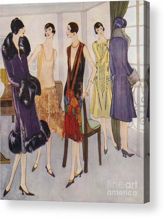 1920�s Acrylic Print featuring the drawing 1920s Fashion 1925 1920s Uk Womens by The Advertising Archives