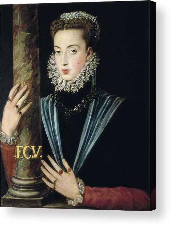 Portrait Acrylic Print featuring the photograph Sanchez Coello, Alonso 1531-1588 by Everett