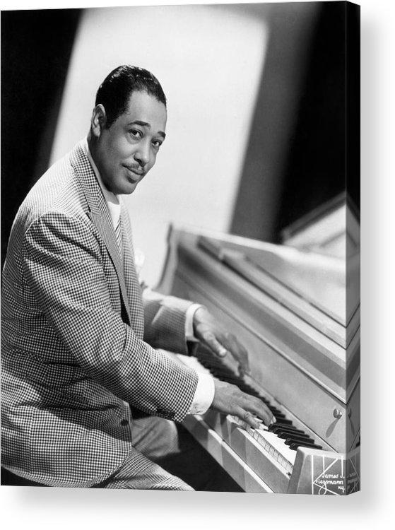 20th Century Acrylic Print featuring the photograph Duke Ellington (1899-1974) by Granger