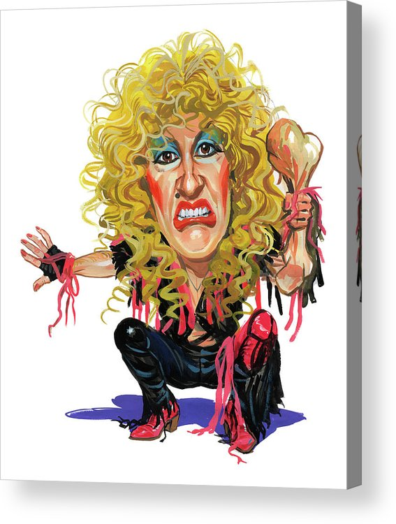Dee Snider Acrylic Print featuring the painting Dee Snider by Art