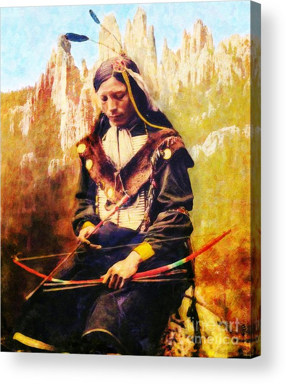 Native American Acrylic Print featuring the digital art Oglala Homeland by Lianne Schneider