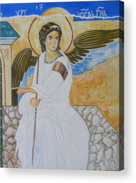 Serbian Acrylic Print featuring the painting White Angel by Jovica Kostic