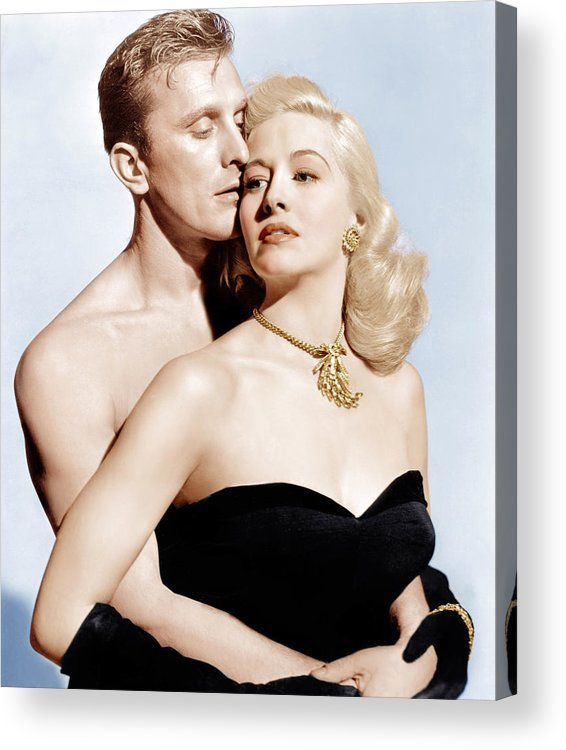 1940s Movies Acrylic Print featuring the photograph Champion, From Left Kirk Douglas by Everett