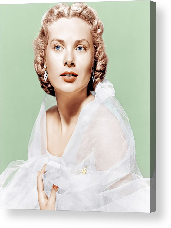 1950s Portraits Acrylic Print featuring the photograph Dial M For Murder, Grace Kelly, 1954 by Everett