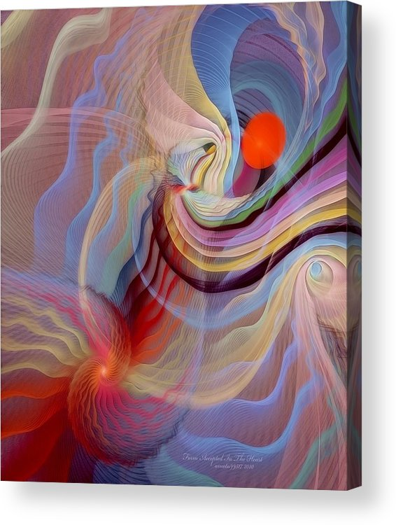 Fractal Acrylic Print featuring the digital art Form Accepted In The Heart by Gayle Odsather