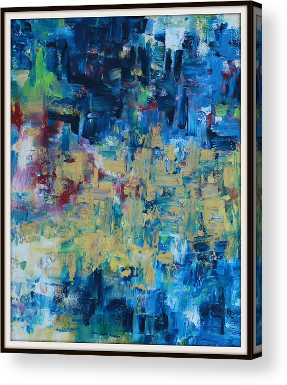 Messy Acrylic Print featuring the painting Messy Ocean by Joanna Georghadjis
