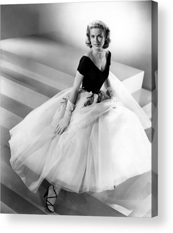 1950s Fashion Acrylic Print featuring the photograph Rear Window, Grace Kelly, 1954 by Everett
