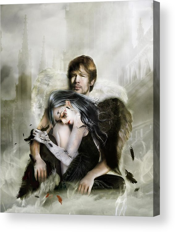 Angel Acrylic Print featuring the digital art The End Is Nigh by Mary Hood