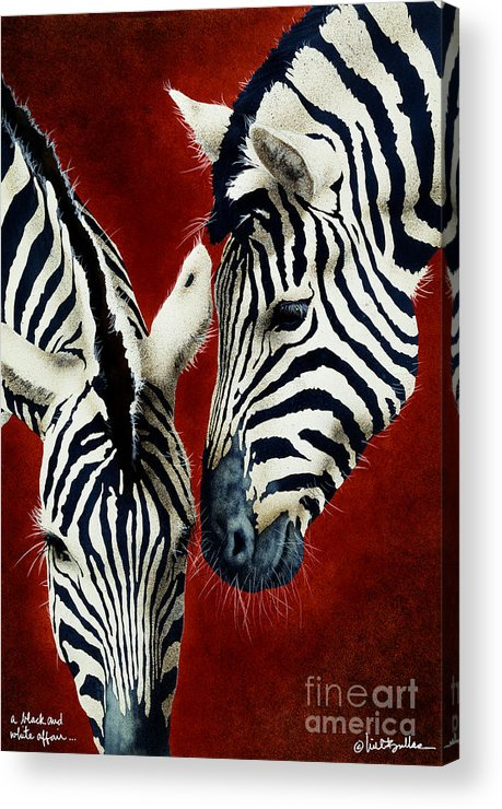 Will Bullas Acrylic Print featuring the painting A Black And White Affair... by Will Bullas