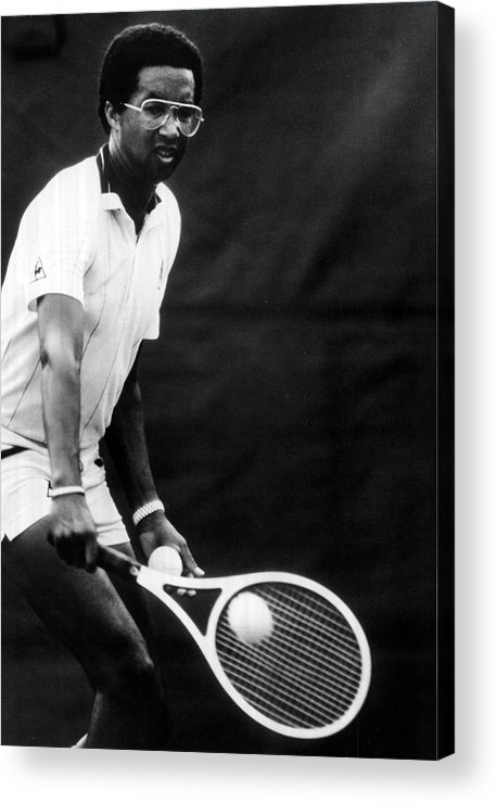 Retro Images Archive Acrylic Print featuring the photograph Arthur Ashe Playing Tennis by Retro Images Archive
