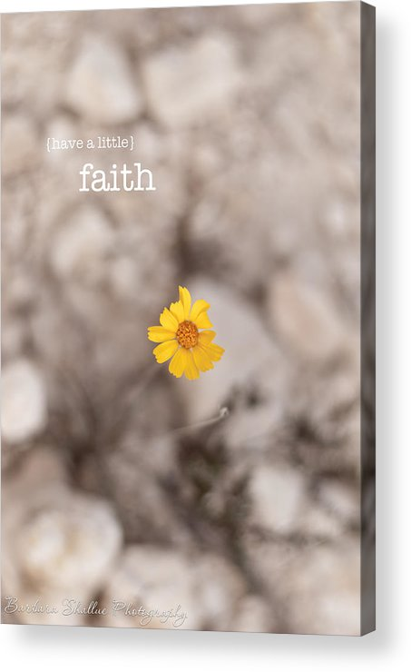Faith Acrylic Print featuring the photograph Faith by Barbara Shallue