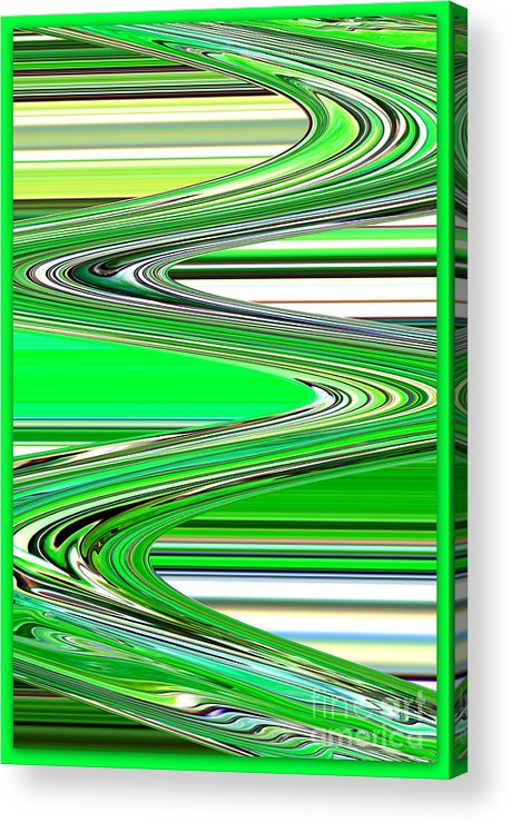 Green Abstract Acrylic Print featuring the photograph Go With The Flow by Carol Groenen