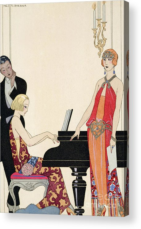 Piano Acrylic Print featuring the painting Incantation by Georges Barbier
