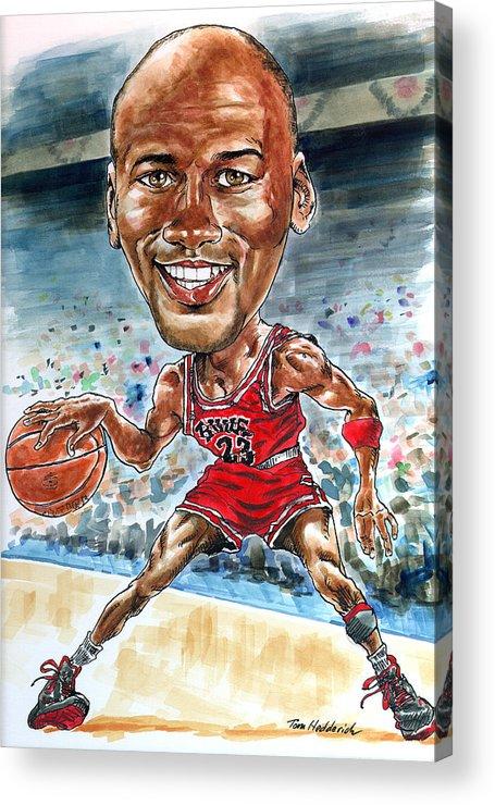 Jordan Acrylic Print featuring the painting Jordan by Tom Hedderich