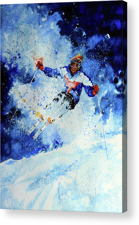 Artist Acrylic Print featuring the painting Mogul Mania by Hanne Lore Koehler
