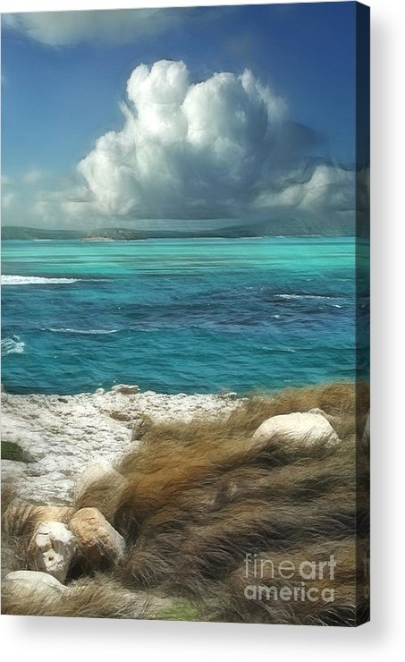 Antigua Acrylic Print featuring the painting Nonsuch Bay Antigua by John Edwards