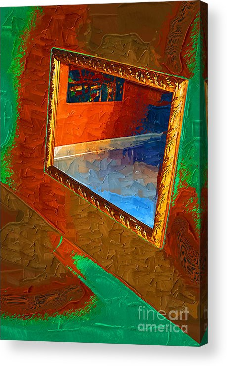 Framed Acrylic Print featuring the painting Reflections In The Mirror by Jonathan Steward
