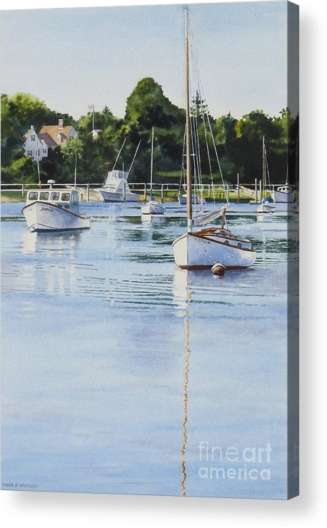 Sailboats Acrylic Print featuring the painting Summer's Eve by Karol Wyckoff