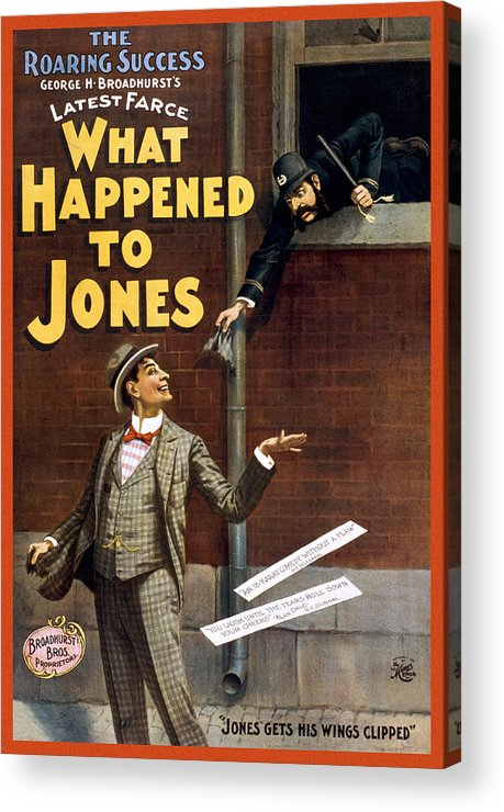 Entertainment Acrylic Print featuring the drawing What Happened To Jones by Aged Pixel