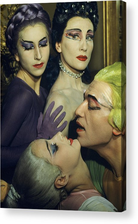 Indoors Acrylic Print featuring the photograph Ballet Dancers Appear In A Love Scene by Justin Locke