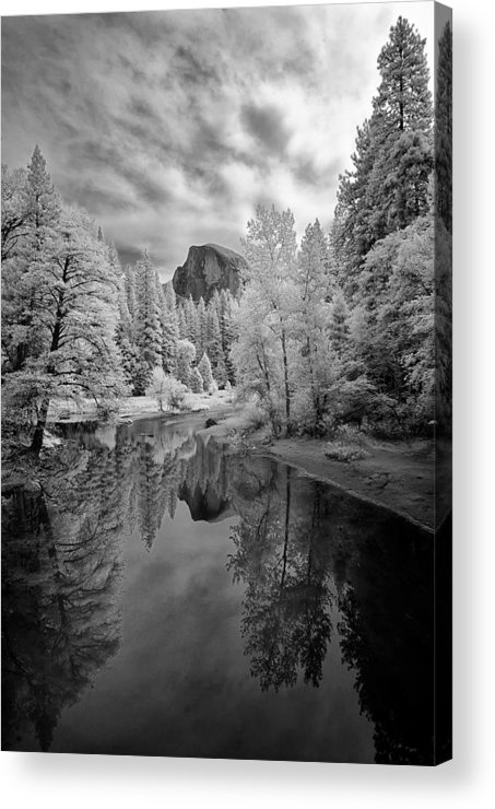 Vertical Acrylic Print featuring the photograph Half Dome by LiorDrZ© Photography