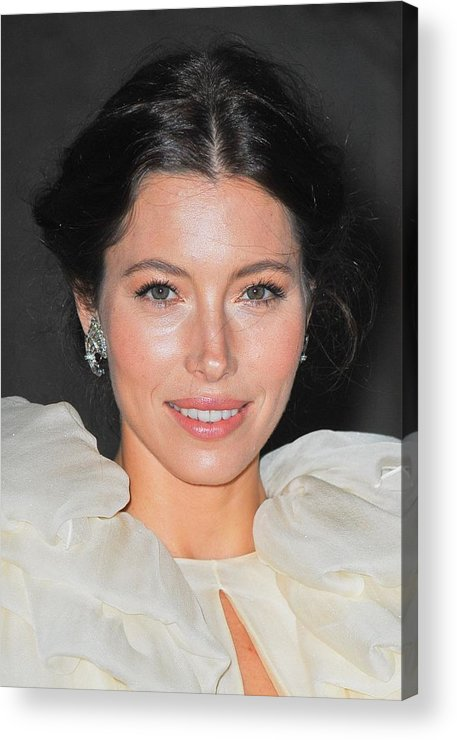 Jessica Biel Acrylic Print featuring the photograph Jessica Biel Wearing Fred Leighton by Everett