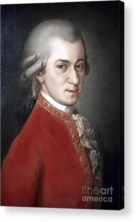 18th Century Acrylic Print featuring the photograph Wolfgang Amadeus Mozart by Granger