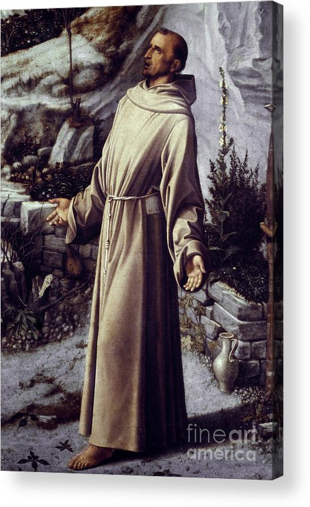 12th Century Acrylic Print featuring the painting St. Francis Of Assisi by Granger