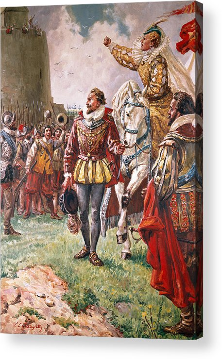 Queen Elizabeth Acrylic Print featuring the painting Elizabeth I The Warrior Queen by CL Doughty