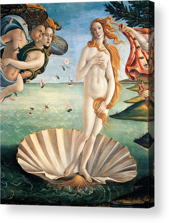 Painting Acrylic Print featuring the painting Birth Of Venus by Sandro Botticelli