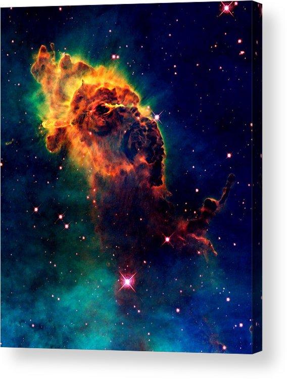 Hubble Acrylic Print featuring the photograph Jet In Carina by Amanda Struz