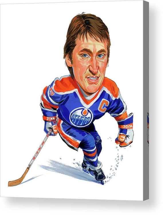 Wayne Gretzky Acrylic Print featuring the painting Wayne Gretzky by Art