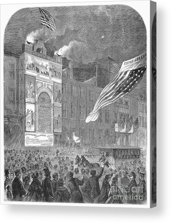 1864 Acrylic Print featuring the photograph Abolition Of Slavery, 1864 by Granger