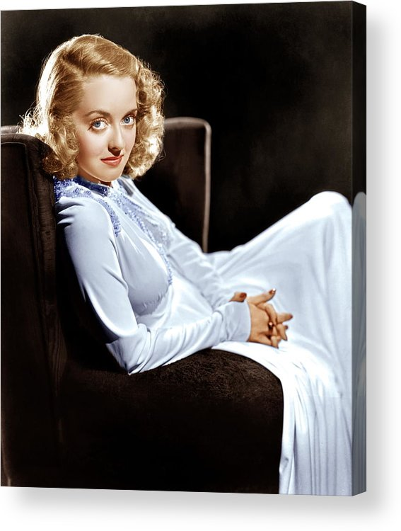 1930s Portraits Acrylic Print featuring the photograph Bette Davis, Ca. Late 1930s by Everett