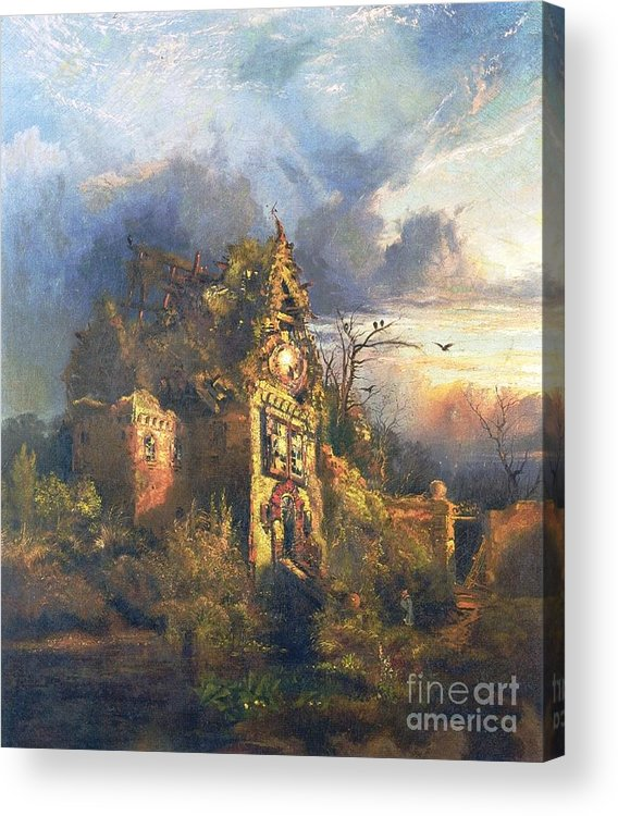 The Haunted House Acrylic Print featuring the painting The Haunted House by Thomas Moran