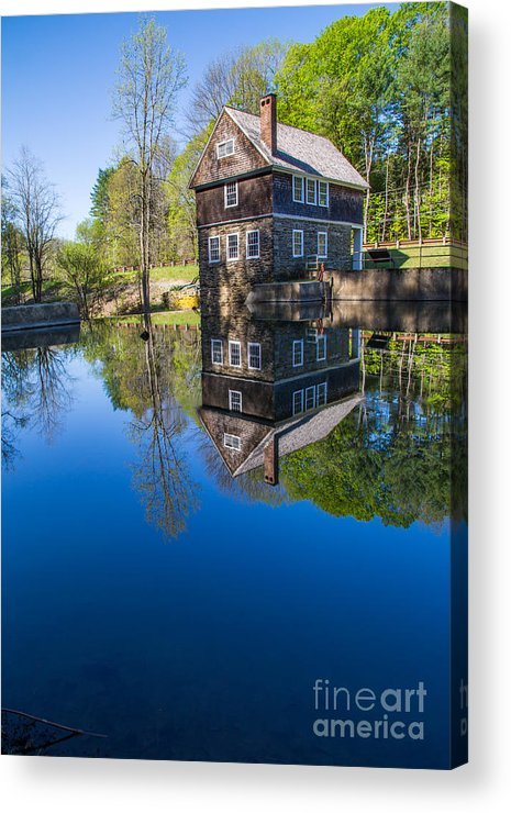 Cornish Acrylic Print featuring the photograph Blow Me Down Mill Cornish New Hampshire by Edward Fielding