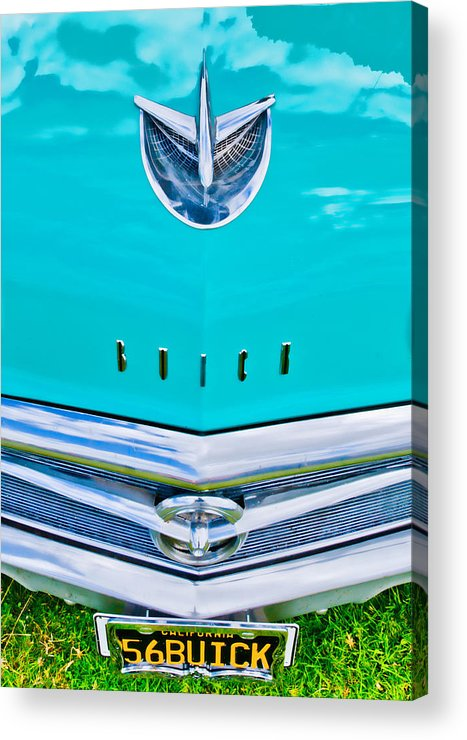 Blue Buick Acrylic Print featuring the photograph Buick Grill by Phil 'motography' Clark