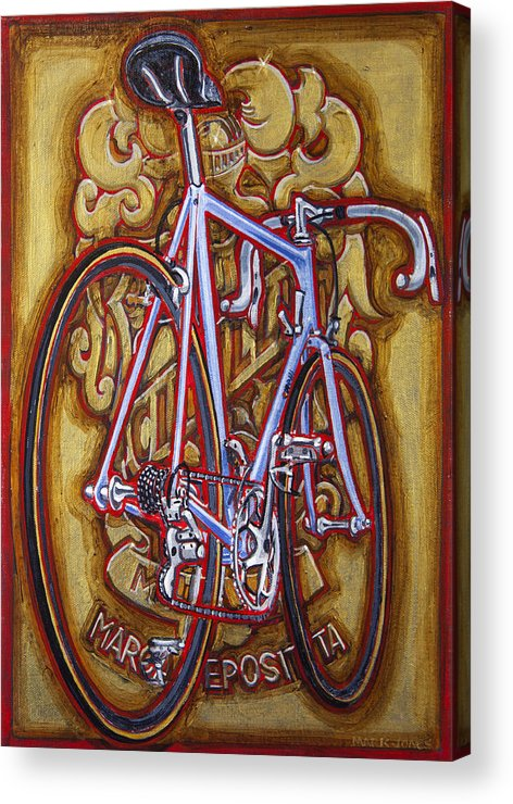 Cinelli Acrylic Print featuring the painting Cinelli Laser Bicycle by Mark Howard Jones