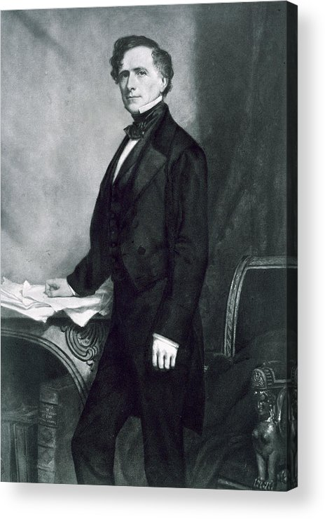 Franklin Pierce Acrylic Print featuring the painting Franklin Pierce by George Healy