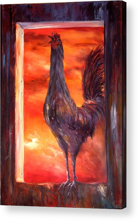 Nightmare Acrylic Print featuring the painting My Nightmare by Jean Walker