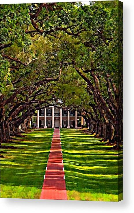 Oak Alley Plantation Acrylic Print featuring the photograph Oak Alley II by Steve Harrington