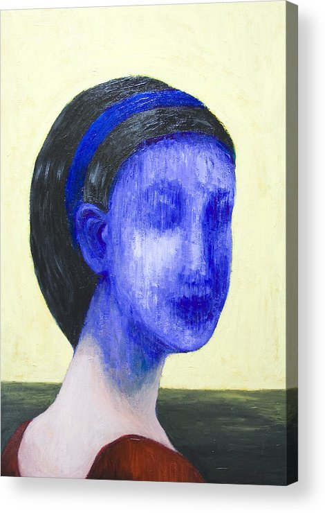 Abstract Portrait Acrylic Print featuring the painting Girl With No Face by Kazuya Akimoto