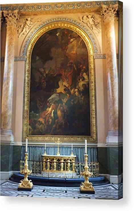 Royal Naval Chapel Acrylic Print featuring the photograph Royal Naval Chapel Interior by Anna Villarreal Garbis