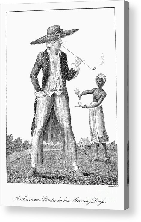 1796 Acrylic Print featuring the photograph Surinam: Slave Owner, 1796 by Granger