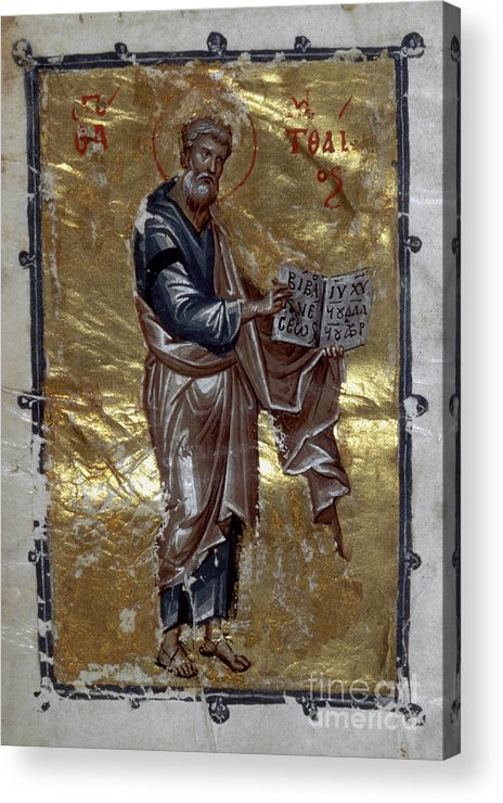 13th Century Acrylic Print featuring the painting Saint Matthew by Granger