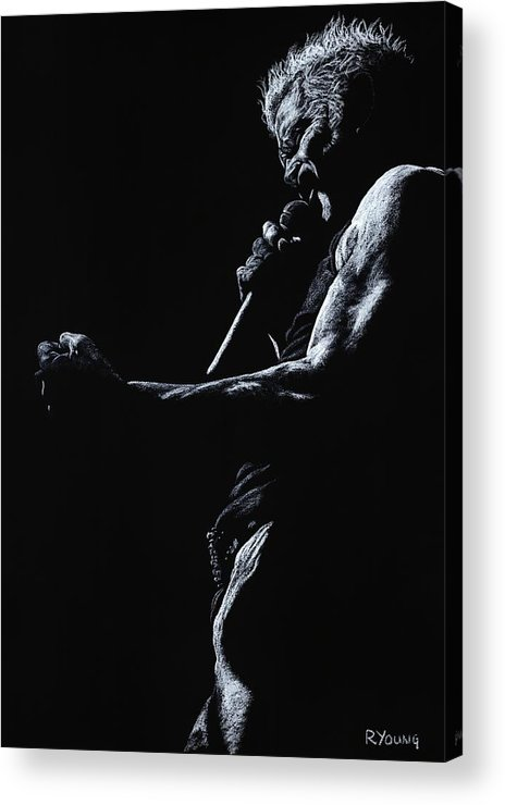 Musician Acrylic Print featuring the pastel Rebel Yell 1 by Richard Young