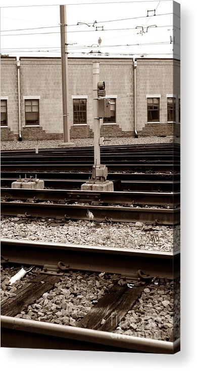 Train Acrylic Print featuring the photograph Depot by Luke Moore