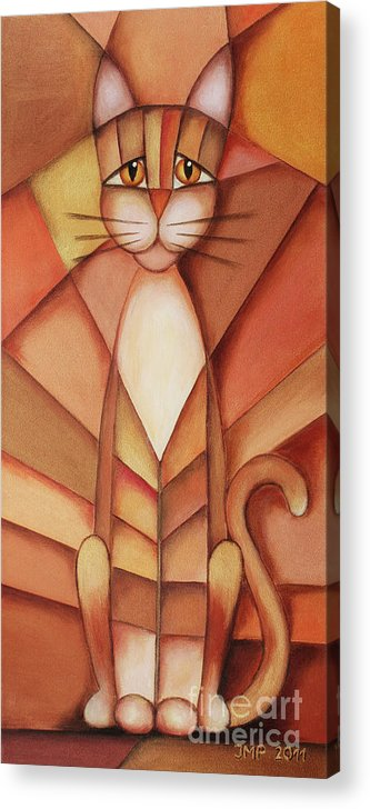 Paint Acrylic Print featuring the painting King Of The Cats by Jutta Maria Pusl