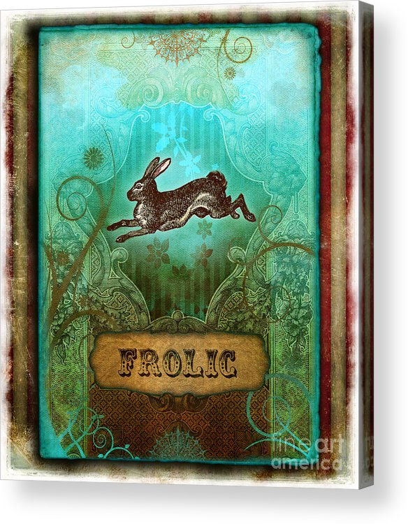 Andrew Farley Acrylic Print featuring the digital art Frolic by Aimee Stewart