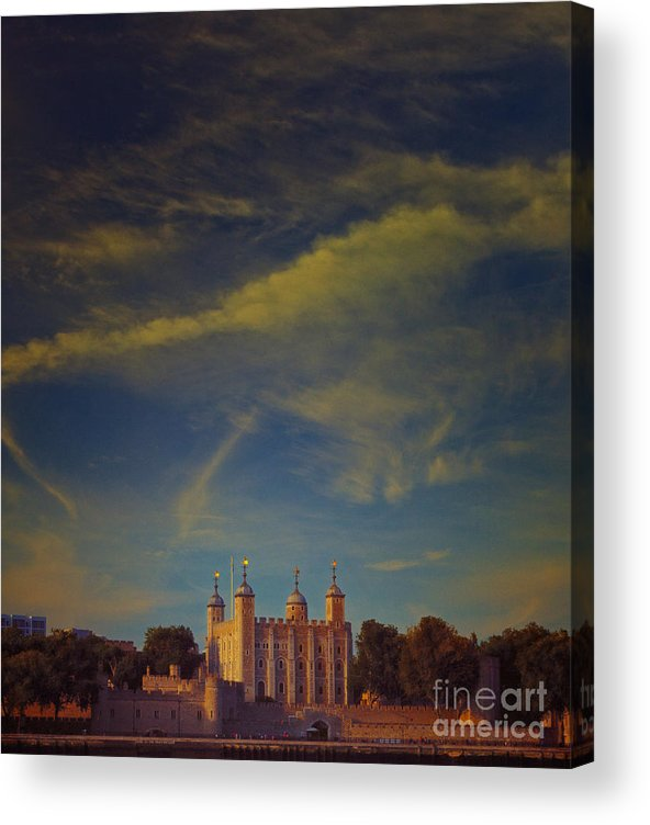 Tower Of London Acrylic Print featuring the photograph Tower Of London by Paul Grand